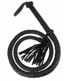 Baillon noir en cuir avec godemiché intérieur