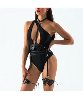 Harnais BDSM Noir Lingerie érotique